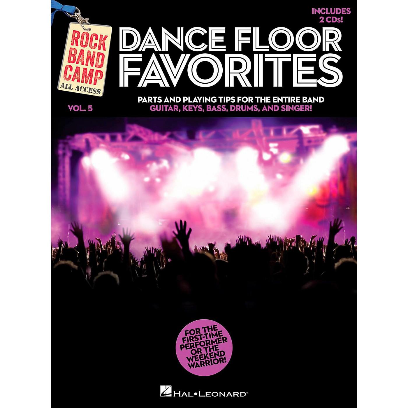 Hal Leonard Dance Floor Favorites - Rock Band Camp Vol. 5 (Book/2-CD Pack) Vocal Gtr Keys Bass Drums thumbnail
