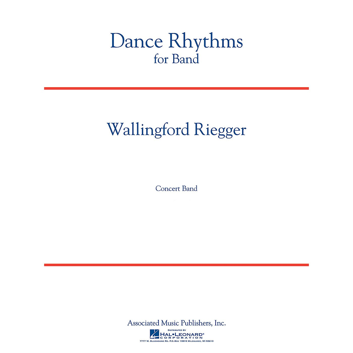 Associated Dance Rhythms for Band, Op. 58 (Full Score) Concert Band Level 5 Composed by Wallingford Riegger thumbnail