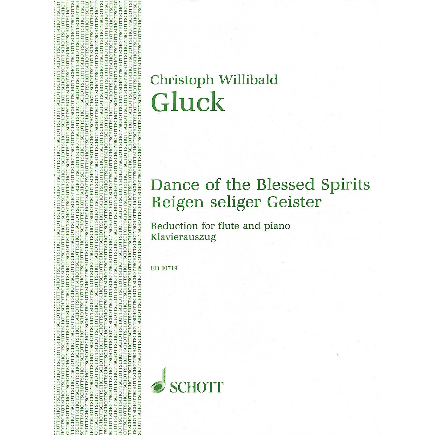 Schott Dance of the Blessed Spirits from Orpheus and Eurydice Schott Series thumbnail