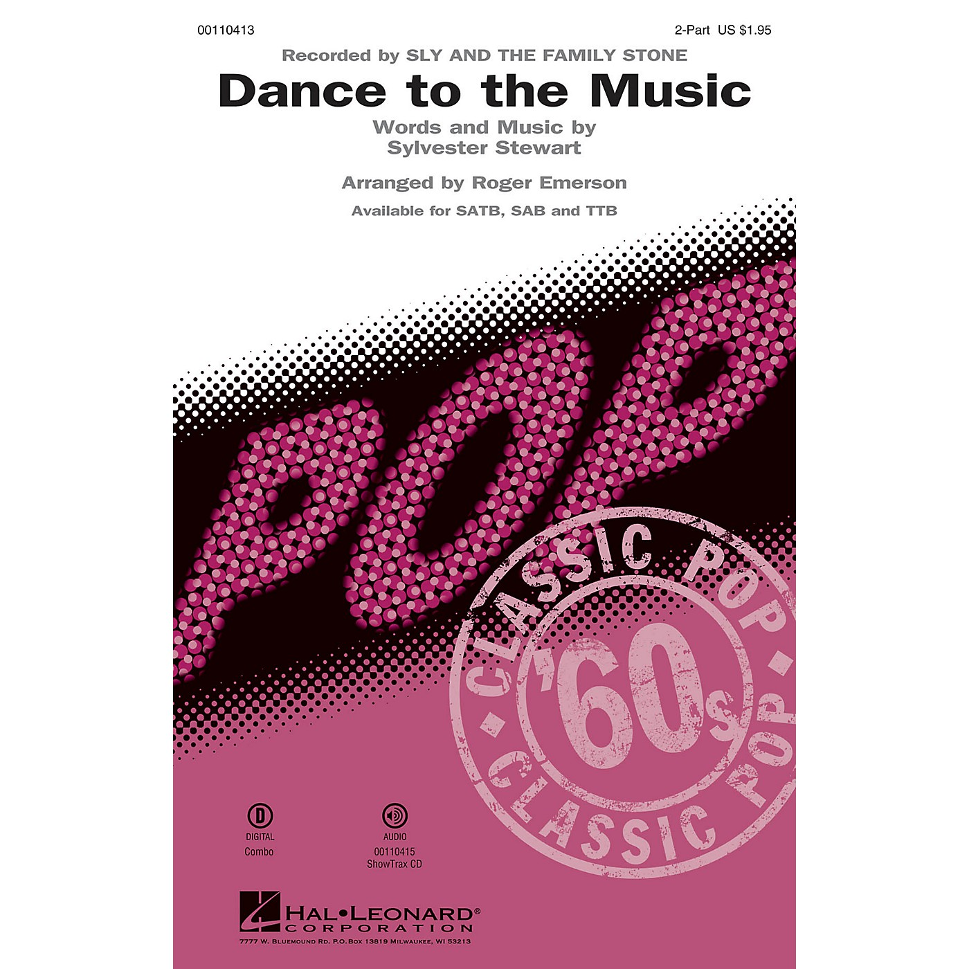 Hal Leonard Dance to the Music (2-Part Mixed) 2-Part by Sly and the Family Stone arranged by Roger Emerson thumbnail