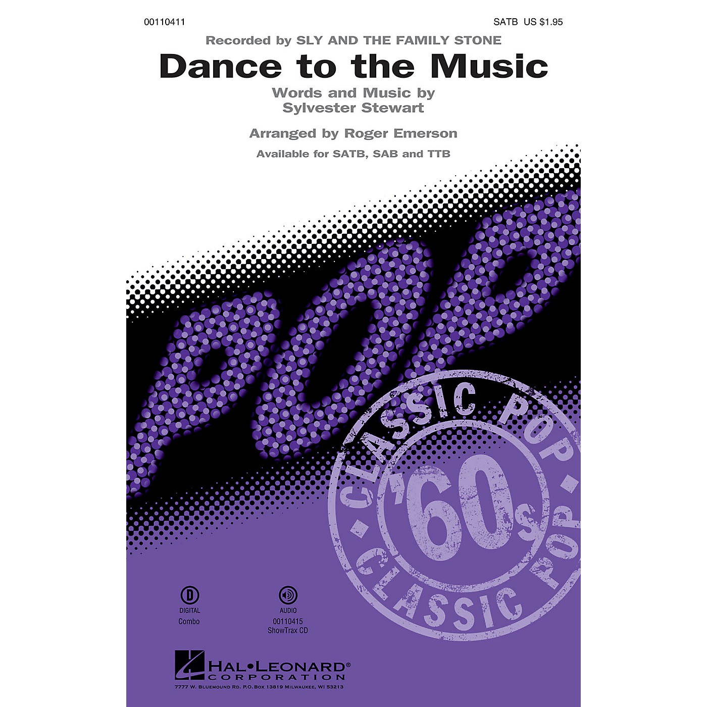 Hal Leonard Dance to the Music (SATB) SATB by Sly and the Family Stone arranged by Roger Emerson thumbnail