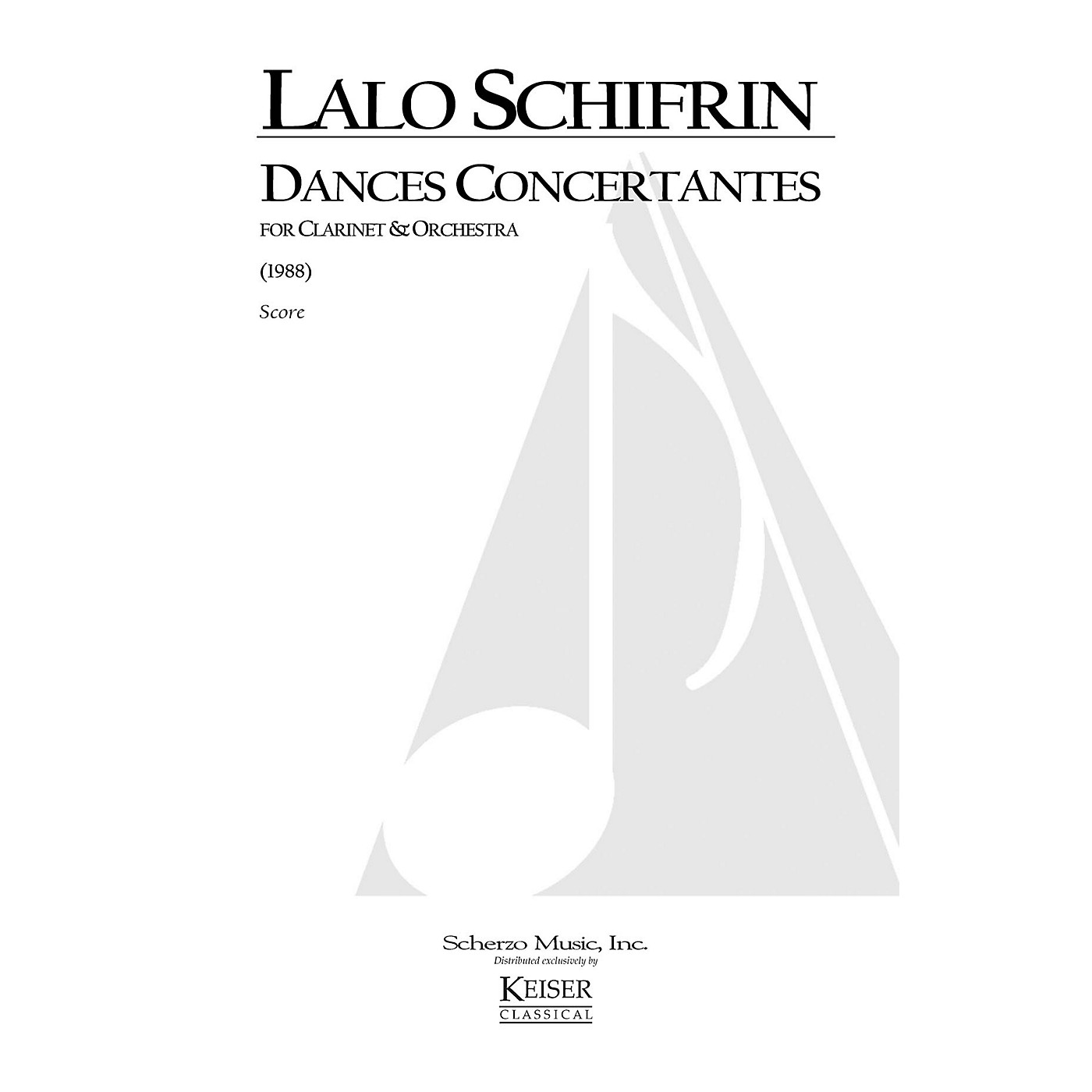 Lauren Keiser Music Publishing Dances Concertantes for Clarinet and Orchestra LKM Music Series Composed by Lalo Schifrin thumbnail