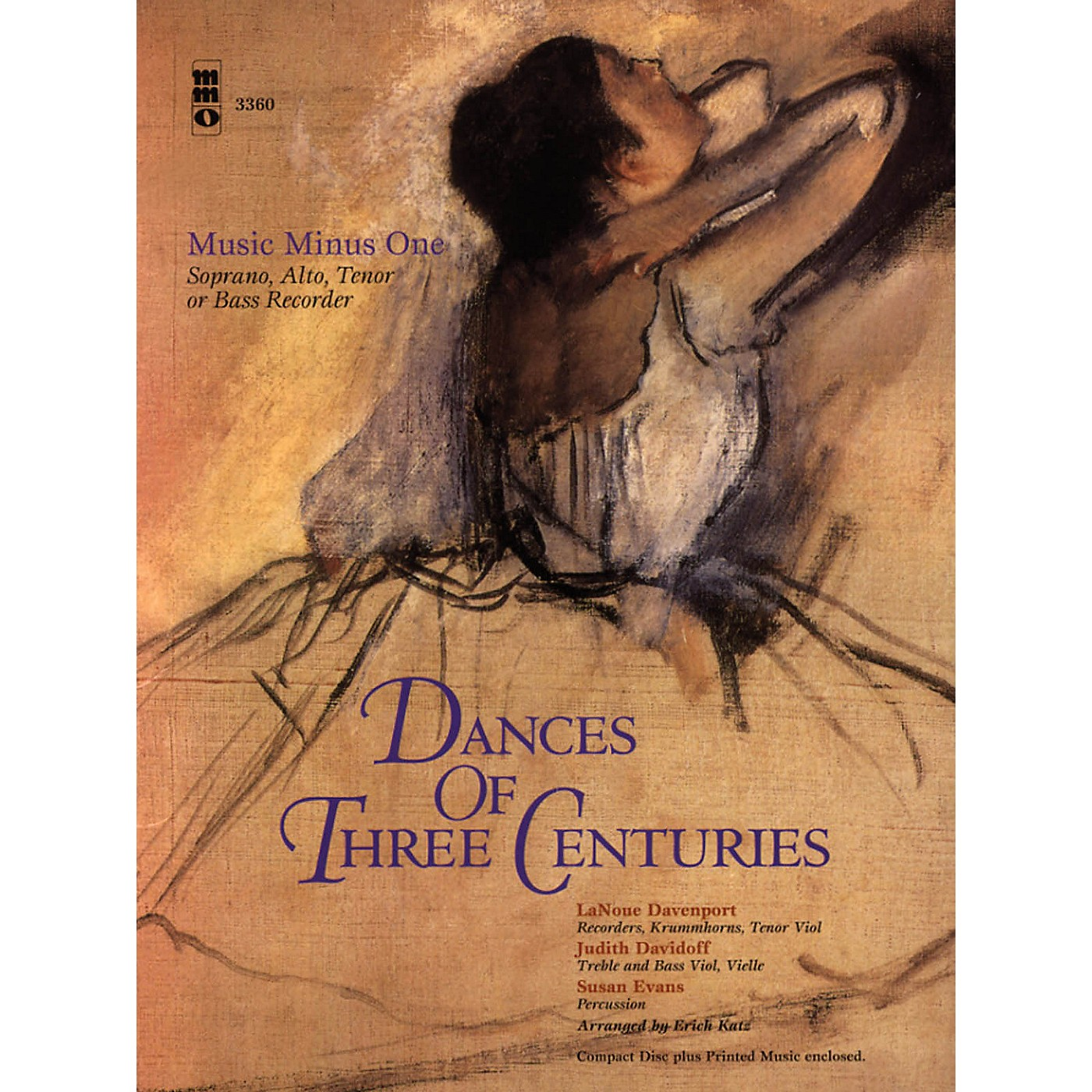 Music Minus One Dances of Three Centuries (Recorder Play-Along Pack) Music Minus One Series Softcover with CD thumbnail