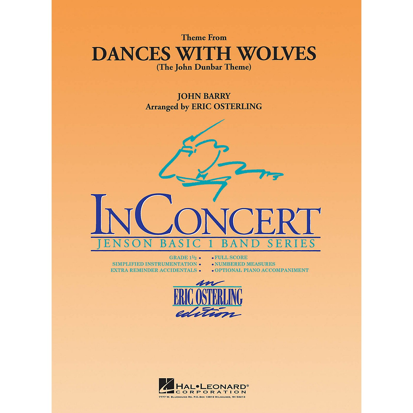 Hal Leonard Dances with Wolves (Main Theme) Concert Band Level 1 Arranged by Eric Osterling thumbnail
