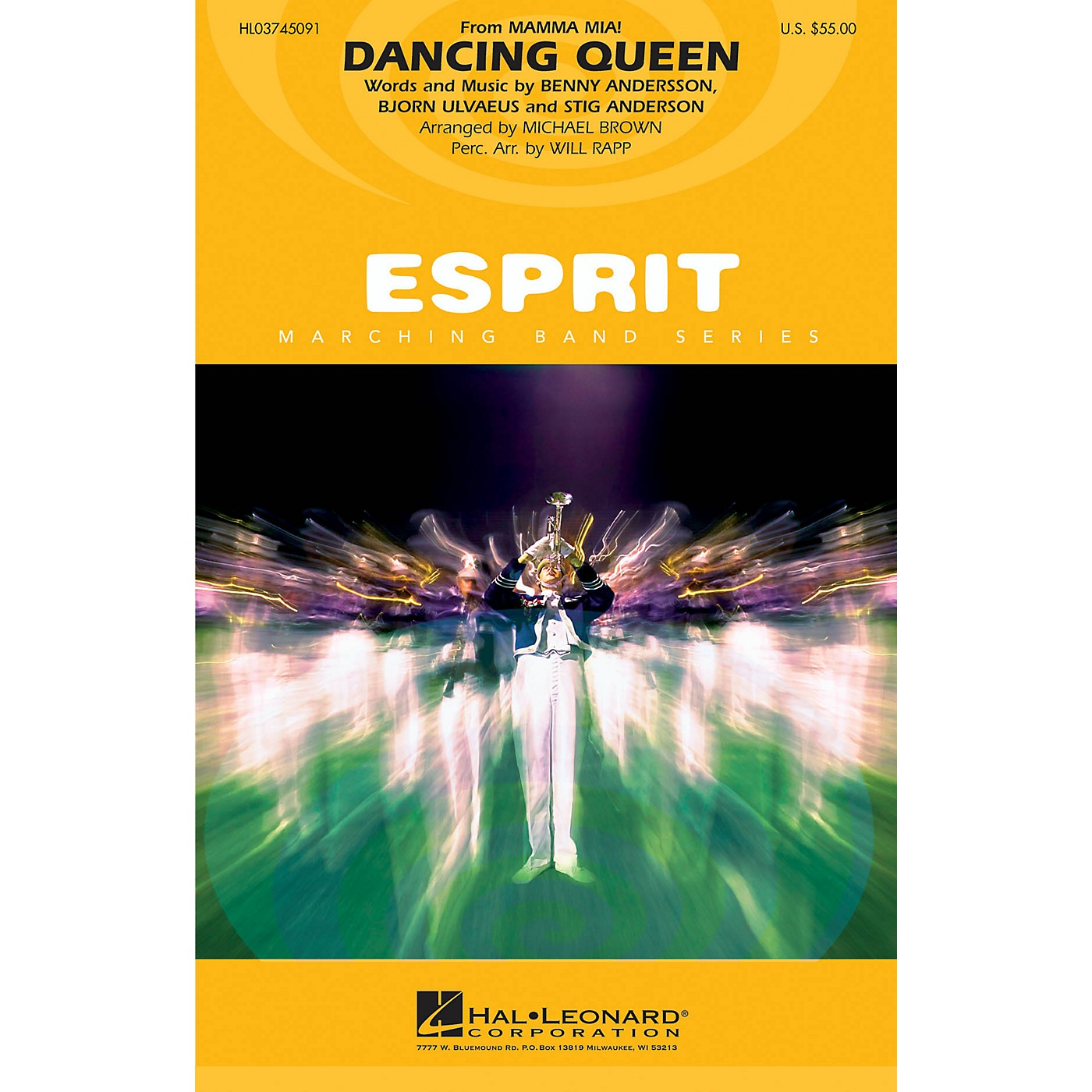 Hal Leonard Dancing Queen (from Mamma Mia!) Marching Band Level 3 by ABBA Arranged by Michael Brown thumbnail
