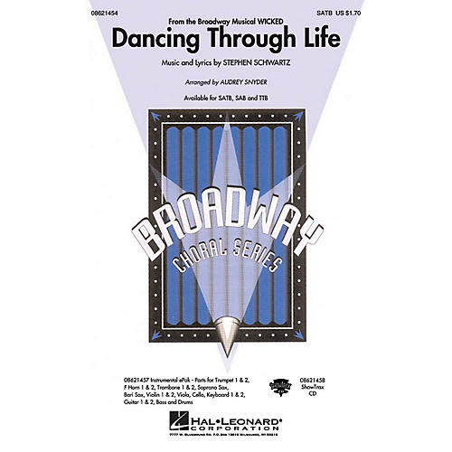 Hal Leonard Dancing Through Life (from Wicked) SAB Arranged by Audrey Snyder thumbnail