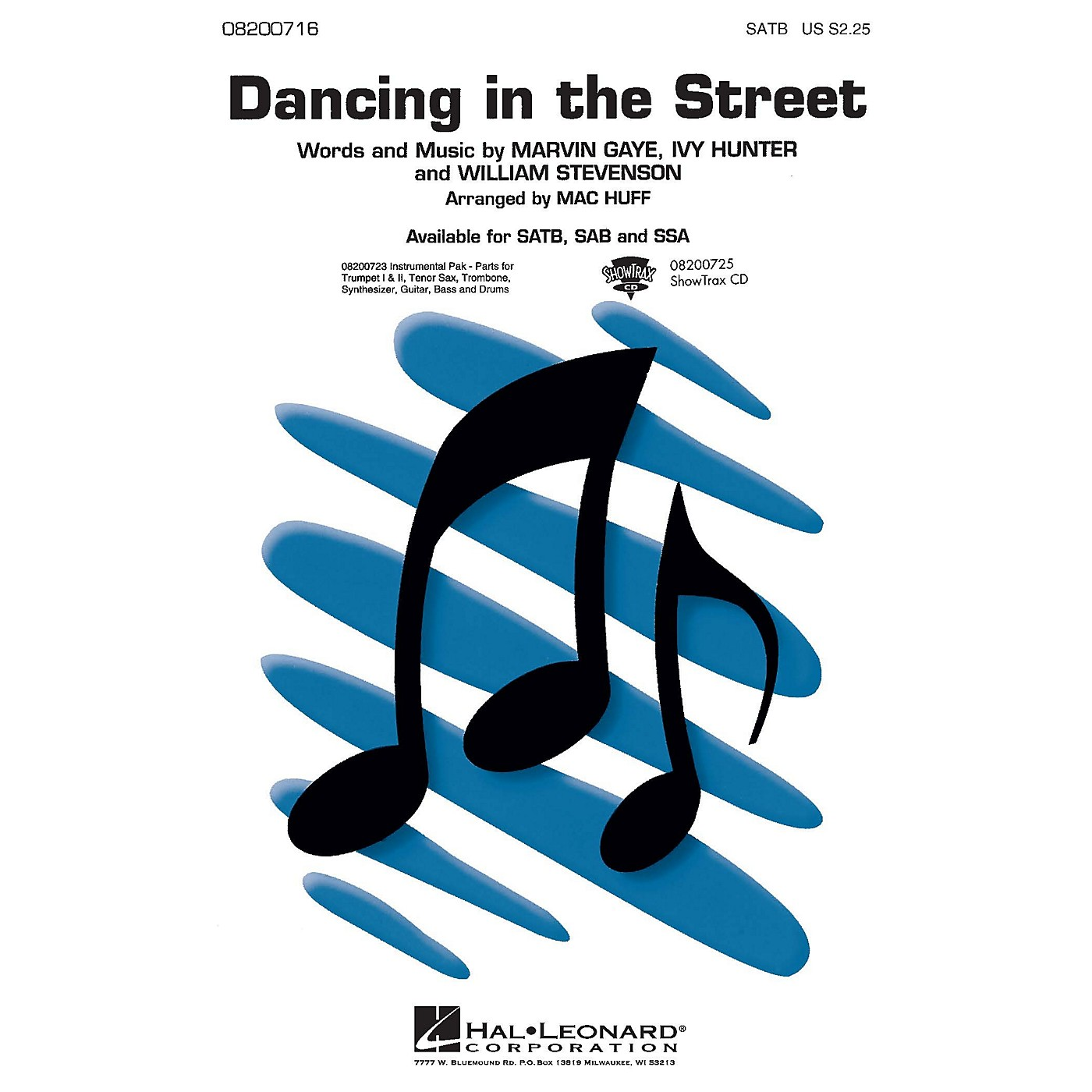 Hal Leonard Dancing in the Street Combo Parts Arranged by Mac Huff thumbnail