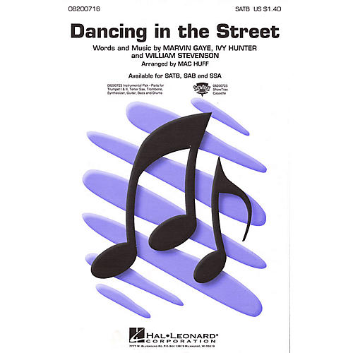 Hal Leonard Dancing in the Street SATB arranged by Mac Huff thumbnail