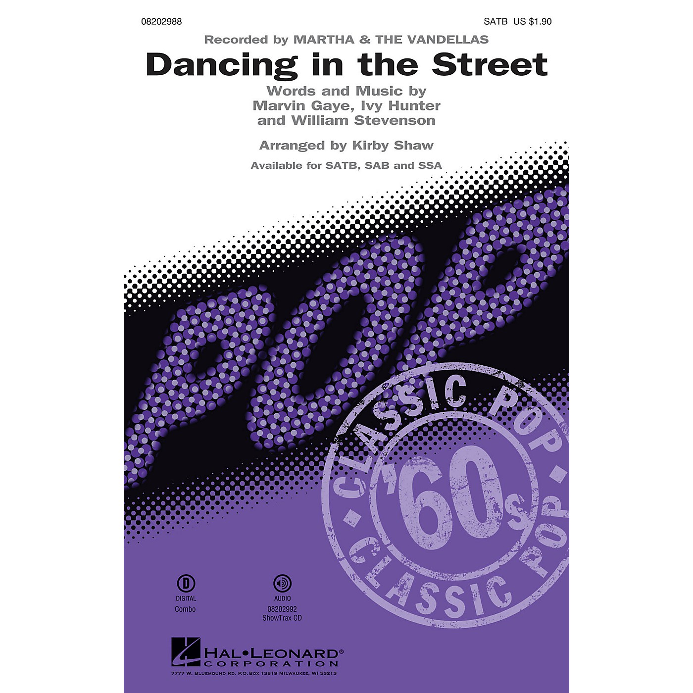 Hal Leonard Dancing in the Street SATB by Martha & The Vandellas arranged by Kirby Shaw thumbnail