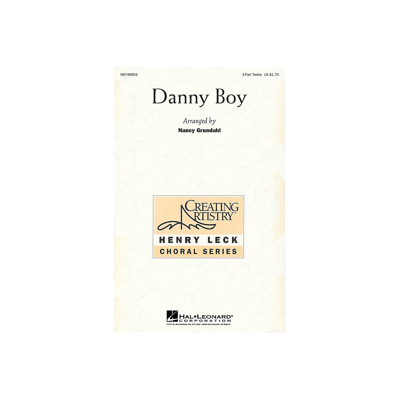 Hal Leonard Danny Boy 3 Part Treble arranged by Nancy Grundahl thumbnail