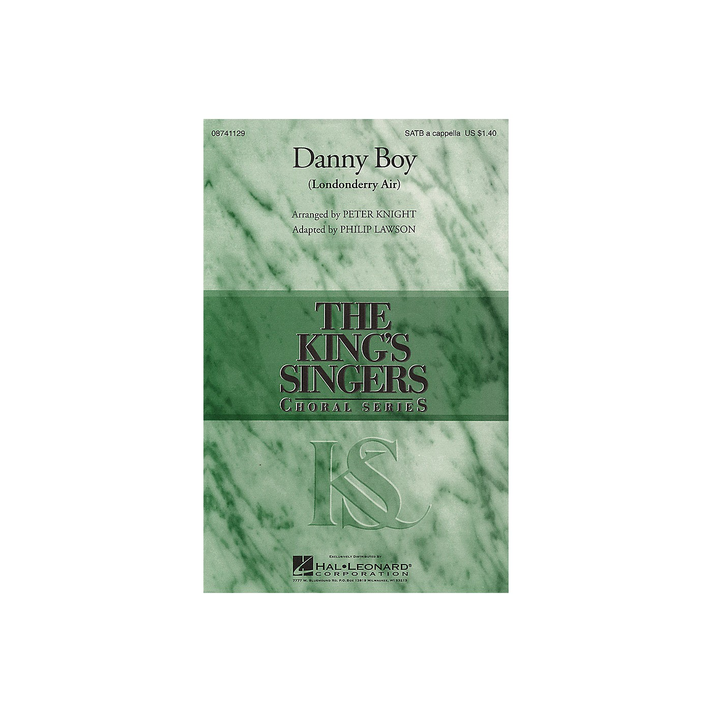 Hal Leonard Danny Boy (Londonderry Air) SATB DV A Cappella by The King's Singers arranged by Peter Knight thumbnail