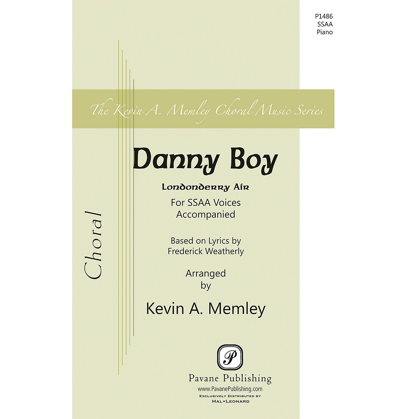 Pavane Danny Boy SSAA arranged by Kevin Memley thumbnail