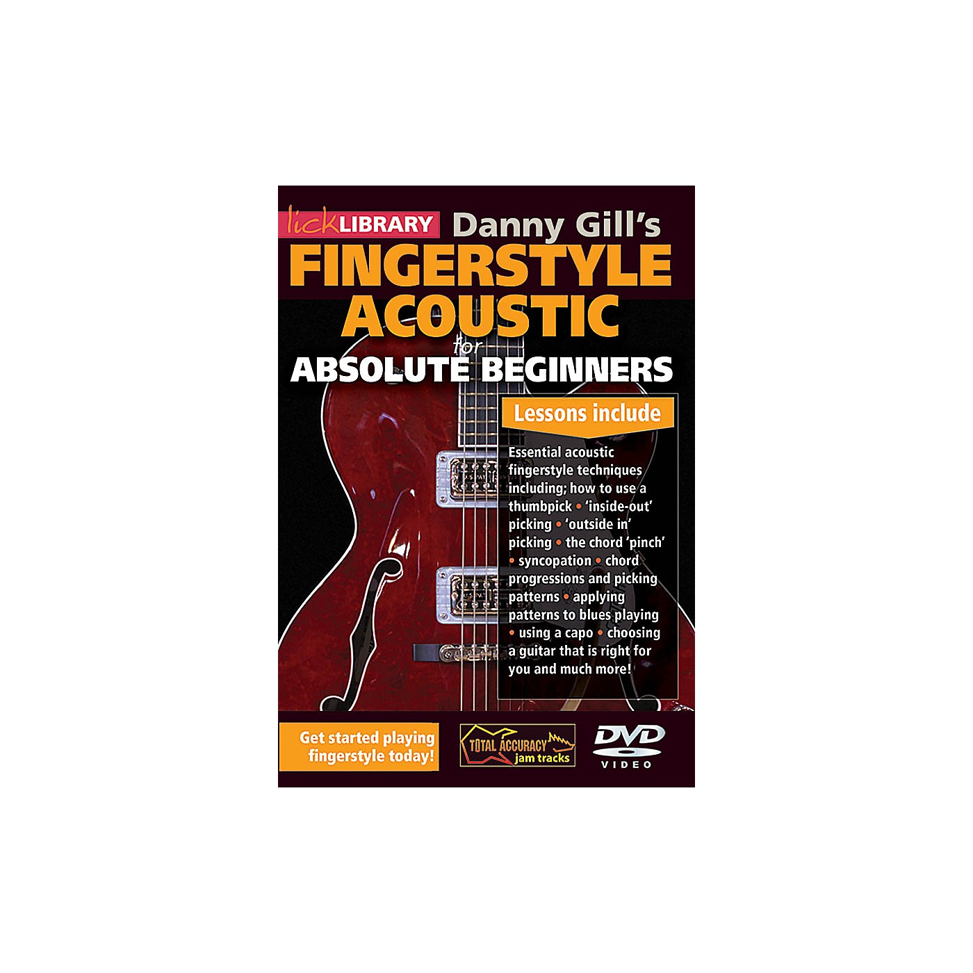 Licklibrary Danny Gill's Fingerstyle Acoustic (Absolute Beginners) Lick Library Series DVD Written by Danny Gill thumbnail