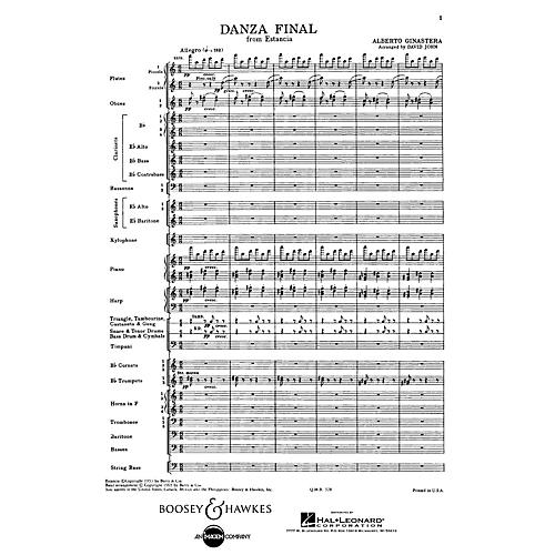 Boosey and Hawkes Danza Final (from Estancia) Concert Band Composed by Alberto E. Ginastera Arranged by David John thumbnail