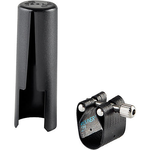 Rovner Dark 2M Tenor Saxophone Ligature and Cap for Metal Mouthpieces-thumbnail