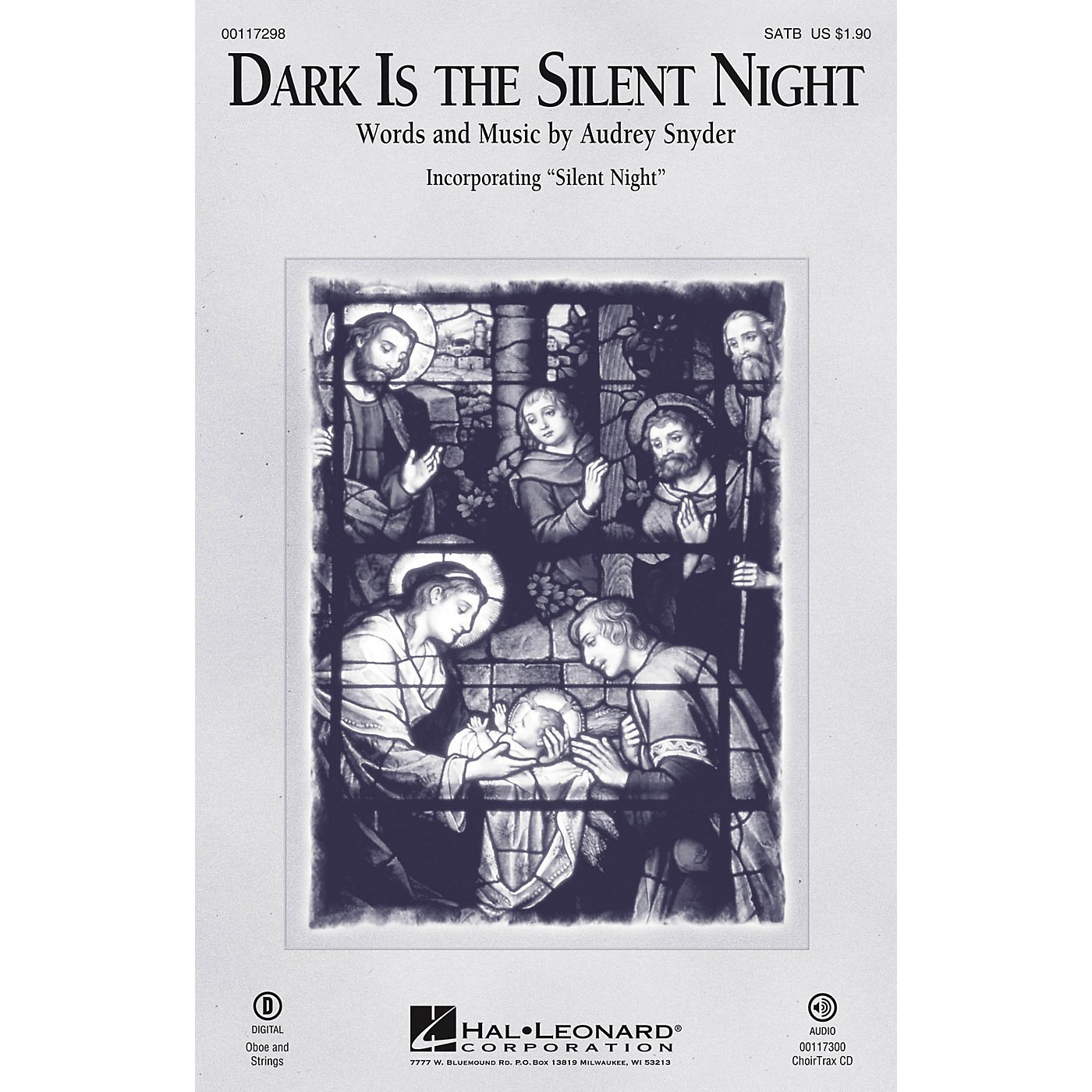 Hal Leonard Dark Is the Silent Night SATB arranged by Audrey Snyder thumbnail