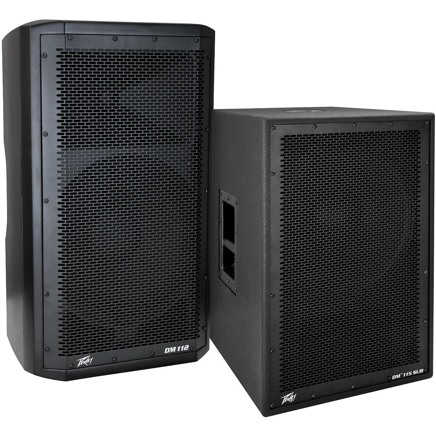 Peavey Dark Matter DM 112 Powered Speaker and DM115 Sub thumbnail