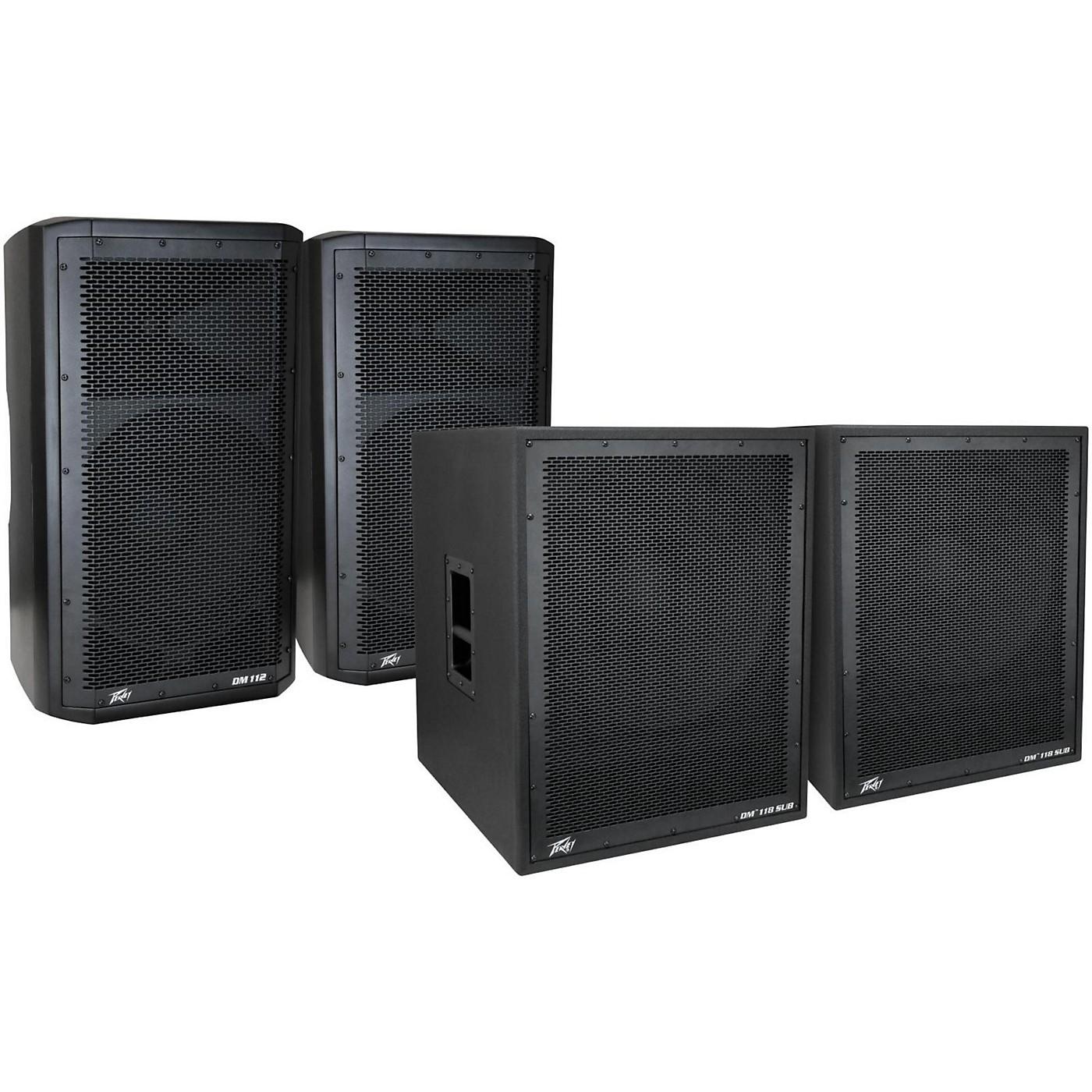 Peavey Dark Matter DM 112 Powered Speaker and DM118 Sub Pair thumbnail