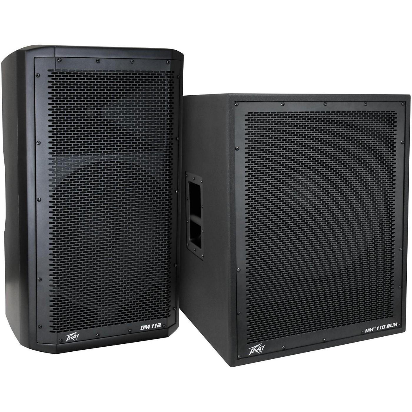 Peavey Dark Matter DM 112 Powered Speaker and DM118 Sub thumbnail