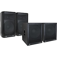 Peavey Dark Matter DM115 Powered Speaker and DM118 Sub Pair