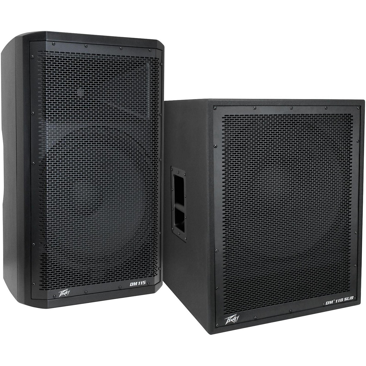 Peavey Dark Matter DM115 Powered Speaker and DM118 Sub thumbnail