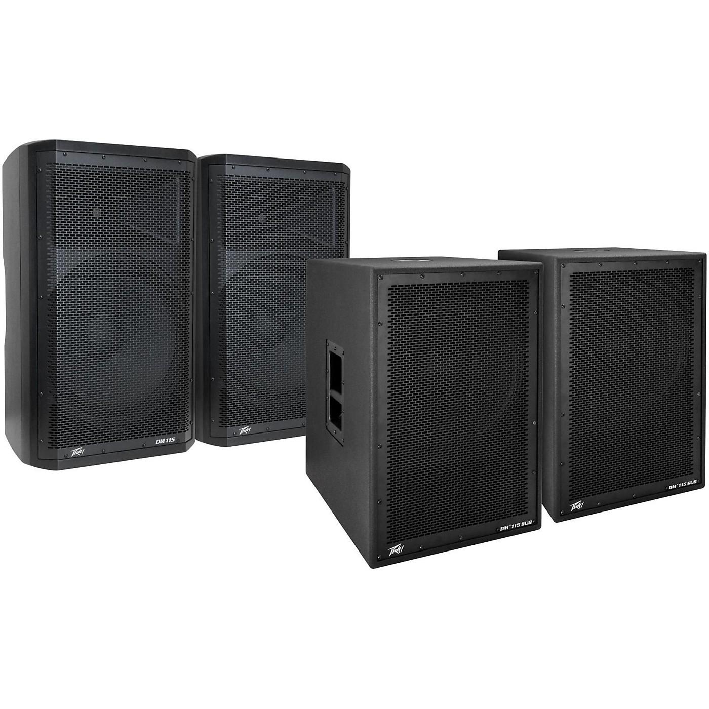Peavey Dark Matter DM115 Powered Speaker and Sub Pair thumbnail