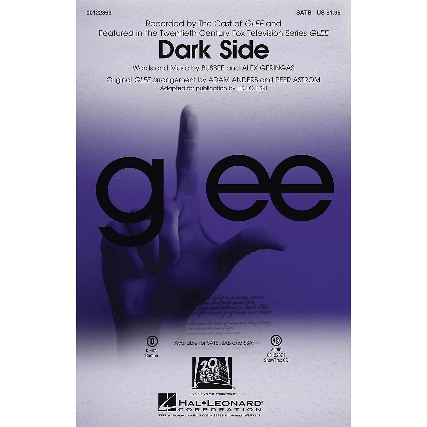 Hal Leonard Dark Side SAB by The Cast of GLEE thumbnail