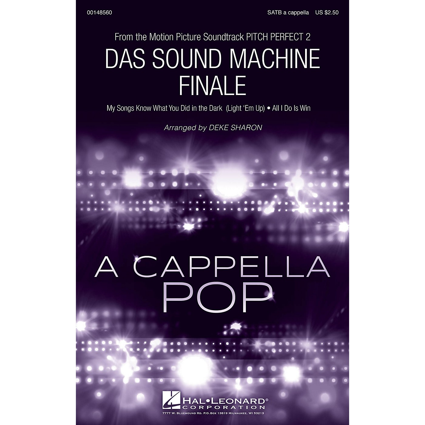 Hal Leonard Das Sound Machine Finale (from Pitch Perfect 2) SATB a cappella arranged by Deke Sharon thumbnail