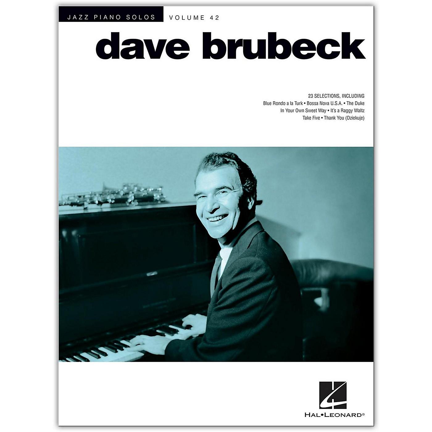 Hal Leonard Dave Brubeck - Jazz Piano Solos Volume 42 thumbnail