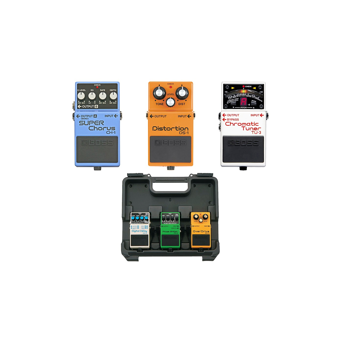Boss Dave Navarro Pedal Pack (CH-1, TU-3, DS-1) with Free BCB30 Pedal Board thumbnail