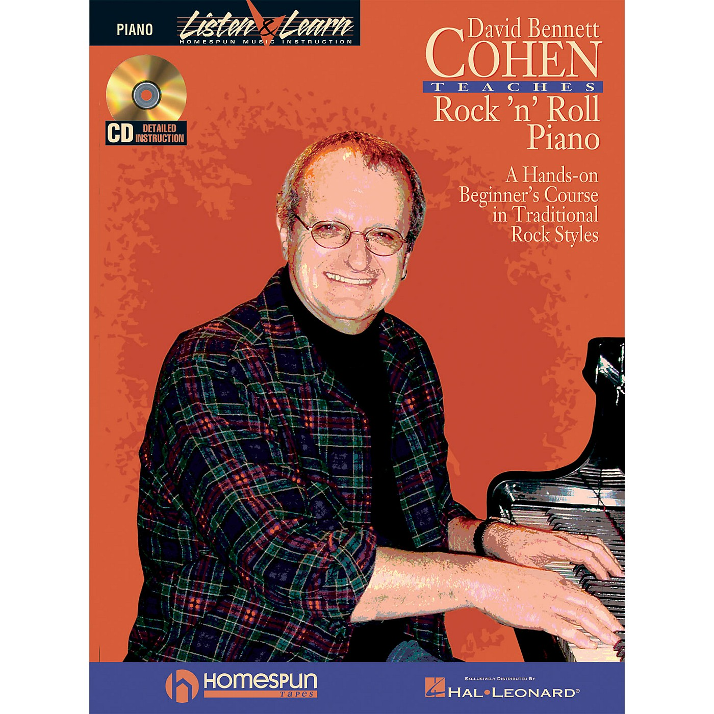 Homespun David Bennett Cohen Teaches Rock'n'Roll Piano Keyboard Instruction Softcover with CD by David Bennett Cohen thumbnail