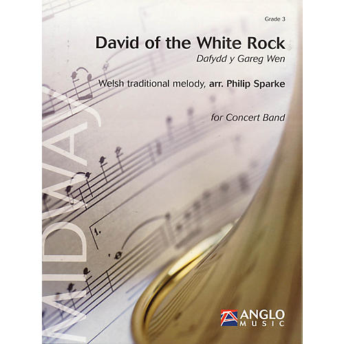 Anglo Music Press David of the White Rock (Dafydd y Gareg Wen) (Grade 3 - Score Only) Concert Band Level 3 by Philip Sparke thumbnail