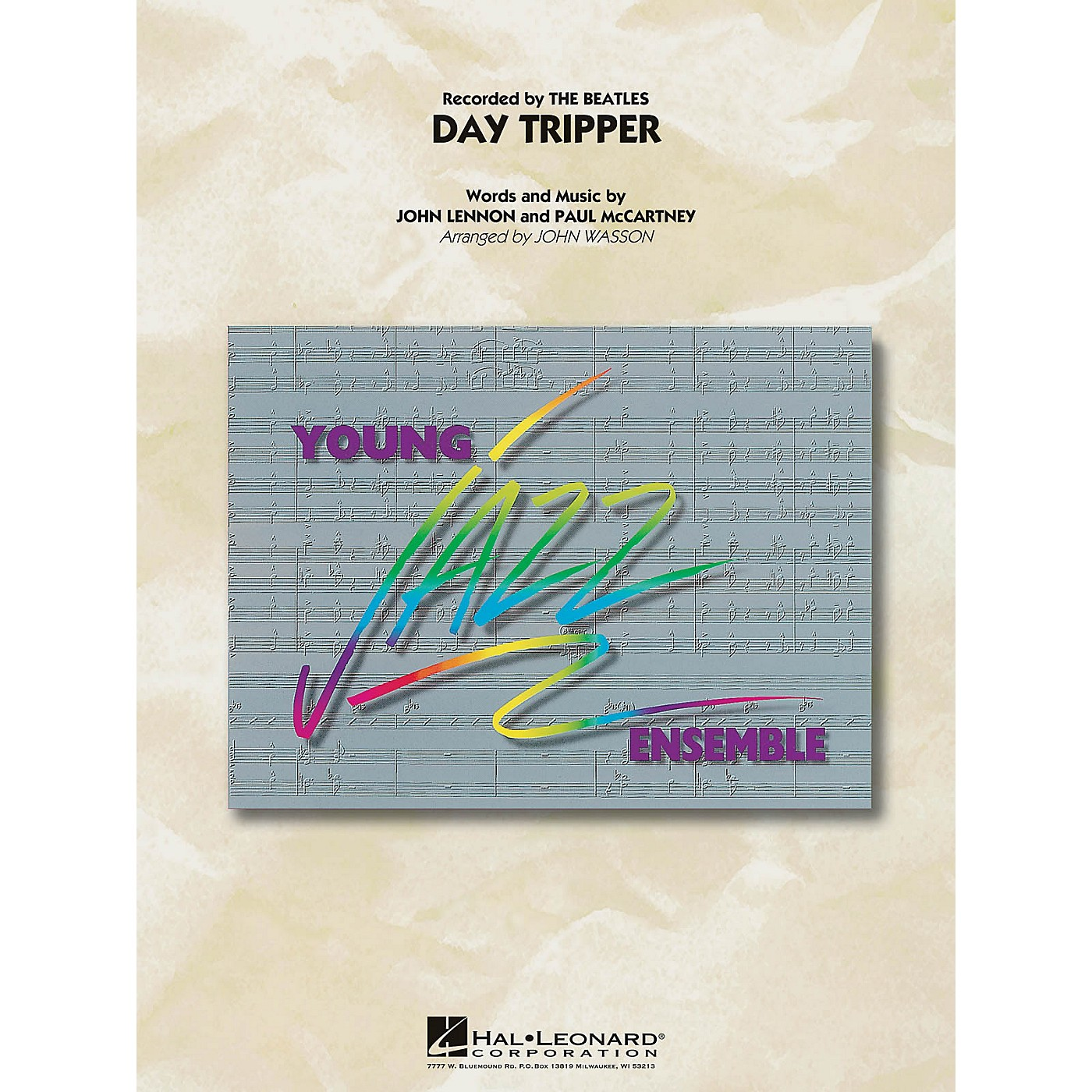 Hal Leonard Day Tripper Jazz Band Level 3 by The Beatles Arranged by John Wasson thumbnail
