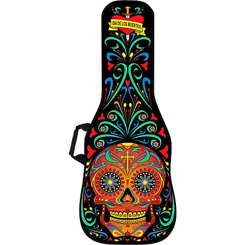 BOLDFACE Day of the Dead Electric Guitar Bag w/ Graphic Face Panel thumbnail
