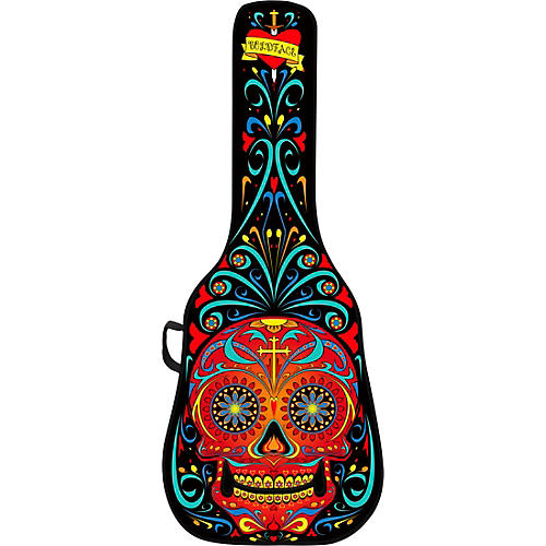 BOLDFACE Day of the Dead Electric Guitar Case w/ Graphic Face Panel thumbnail
