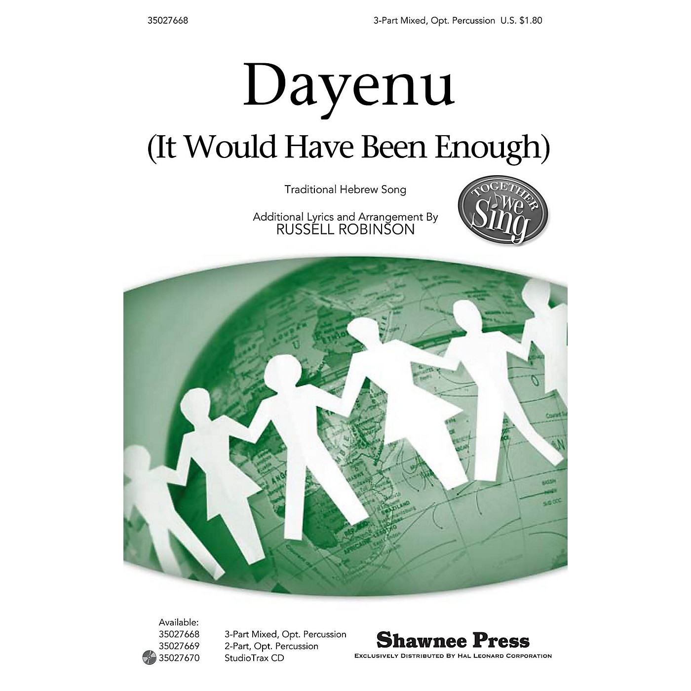 Shawnee Press Dayenu (It Would Have Been Enough) Together We Sing Series 3-PART MIXED arranged by Russell Robinson thumbnail