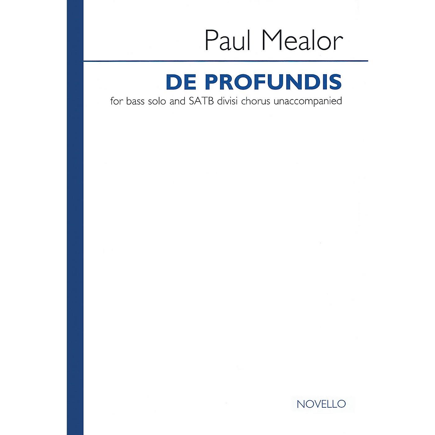 Novello De Profundis (for Bass Solo and SATB Divisi Chorus Unaccompanied) SATB DIVISI AND SOLO by Paul Mealor thumbnail