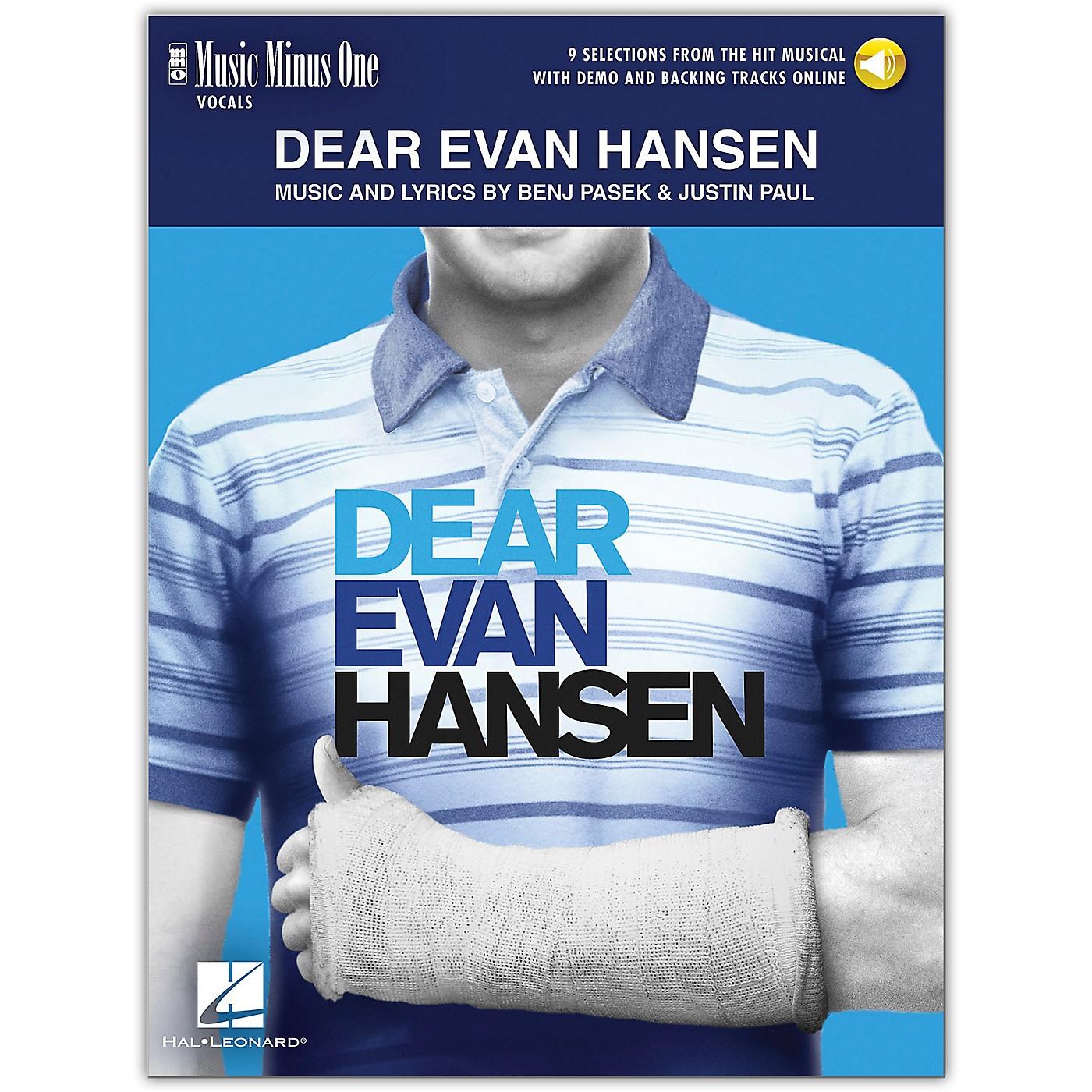 Hal Leonard Dear Evan Hansen - Music Minus One Vocals (Book/Audio Online) 9 Selections From Musical thumbnail