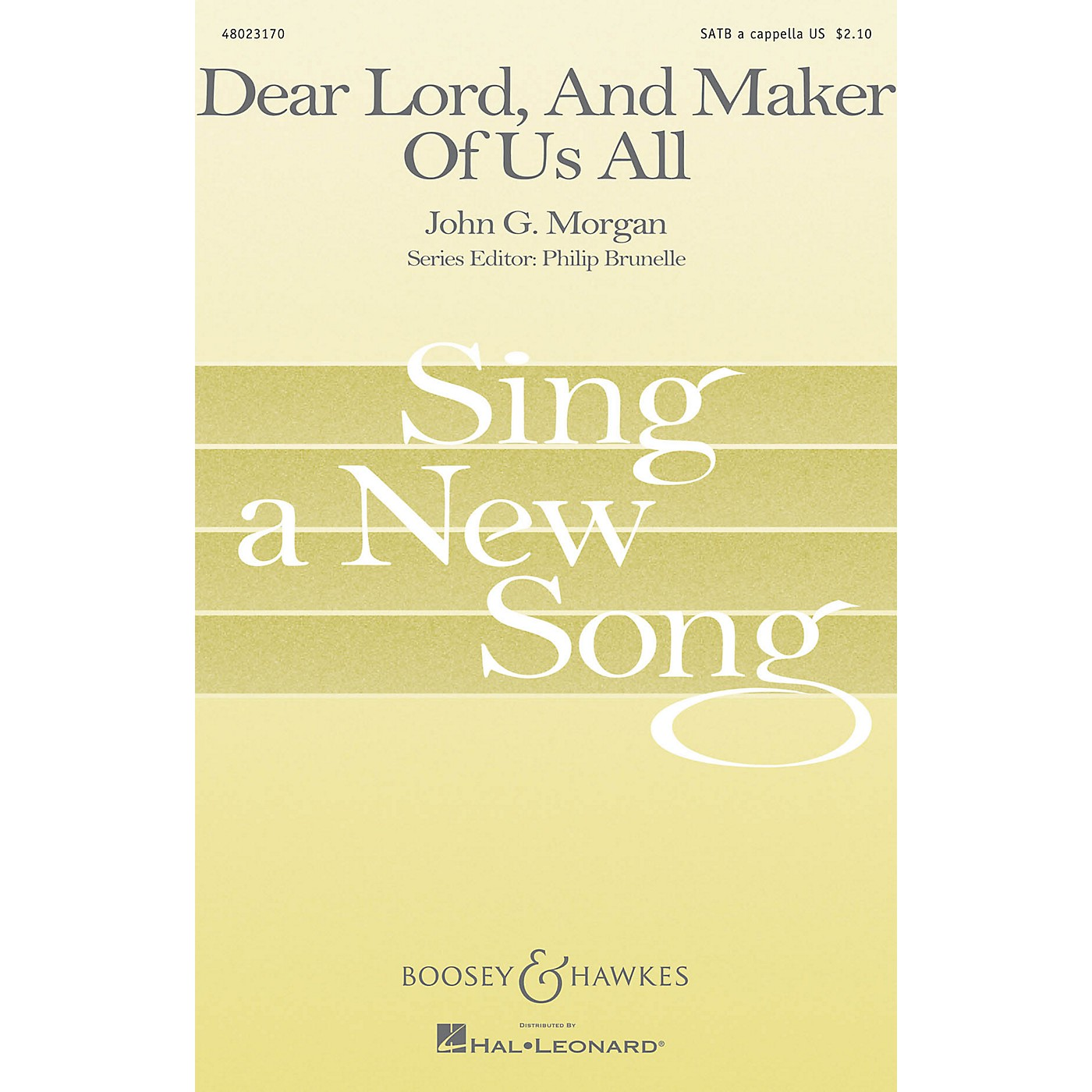 Boosey and Hawkes Dear Lord, And Maker of Us All (Sing a New Song Series) SATB a cappella thumbnail