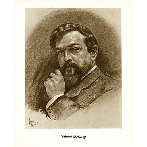 Music Sales Debussy (Lupas Small Portrait Poster) Music Sales America Series thumbnail