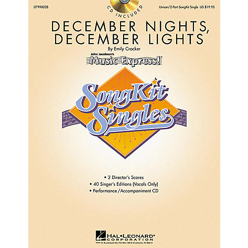 Hal Leonard December Nights, December Lights (SongKit Single) UNIS/2PT Composed by Emily Crocker thumbnail
