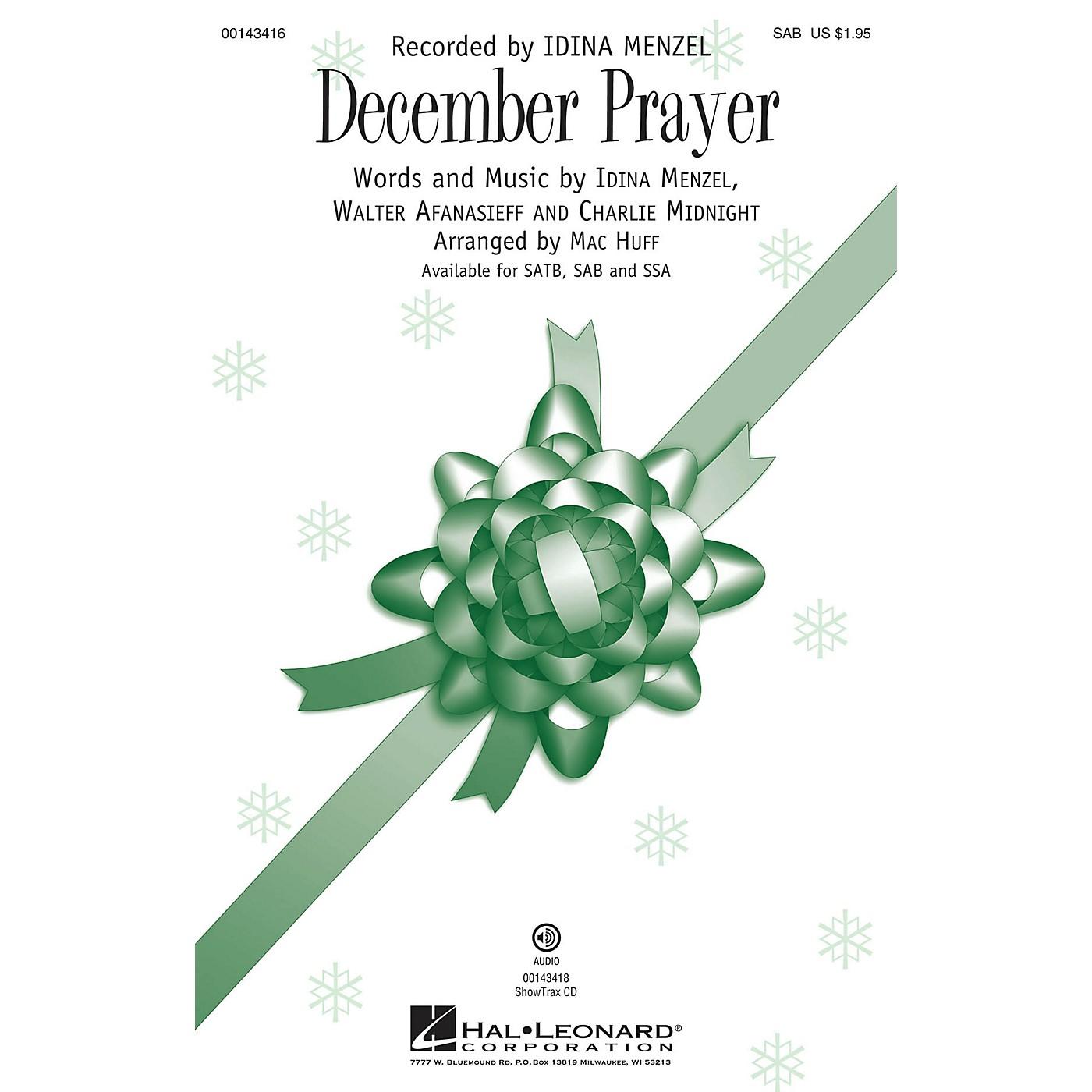 Hal Leonard December Prayer SAB by Idina Menzel arranged by Mac Huff thumbnail