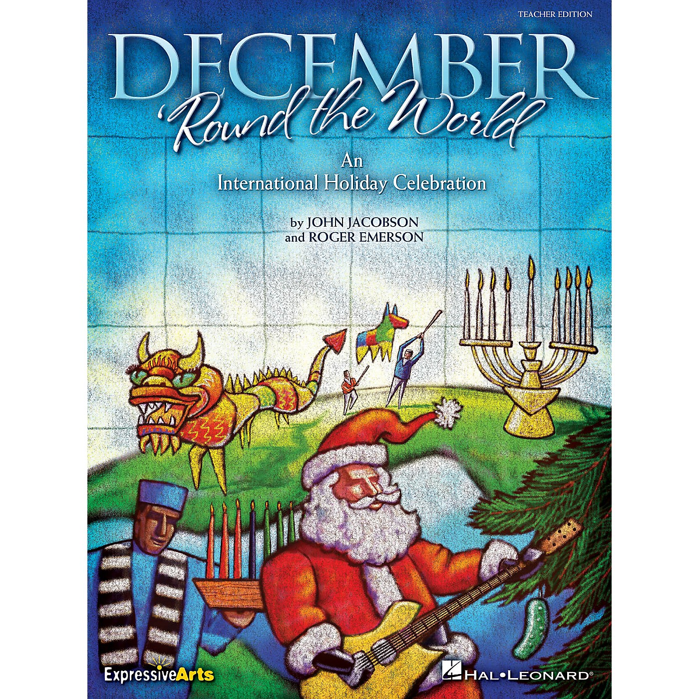 Hal Leonard December 'Round the World (An International Holiday Celebration) Singer 5 Pak Composed by Roger Emerson thumbnail