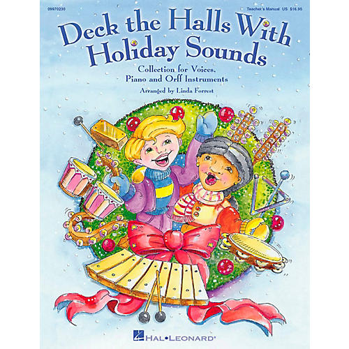 Hal Leonard Deck The Halls With Holiday Sounds Song Collection for Voice and Orff Instruments Vocal 10-Pack thumbnail