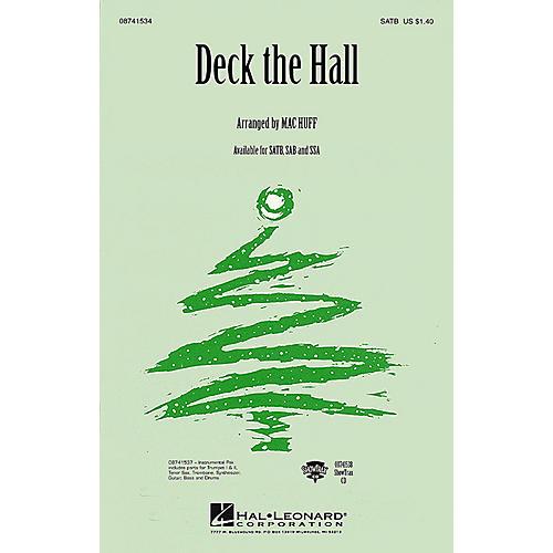Hal Leonard Deck the Hall SATB arranged by Mac Huff thumbnail