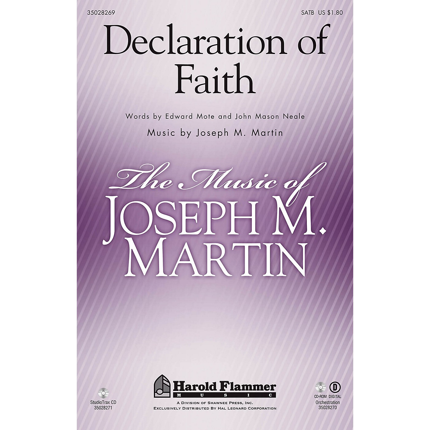 Shawnee Press Declaration of Faith ORCHESTRA ACCOMPANIMENT Composed by Joseph M. Martin thumbnail