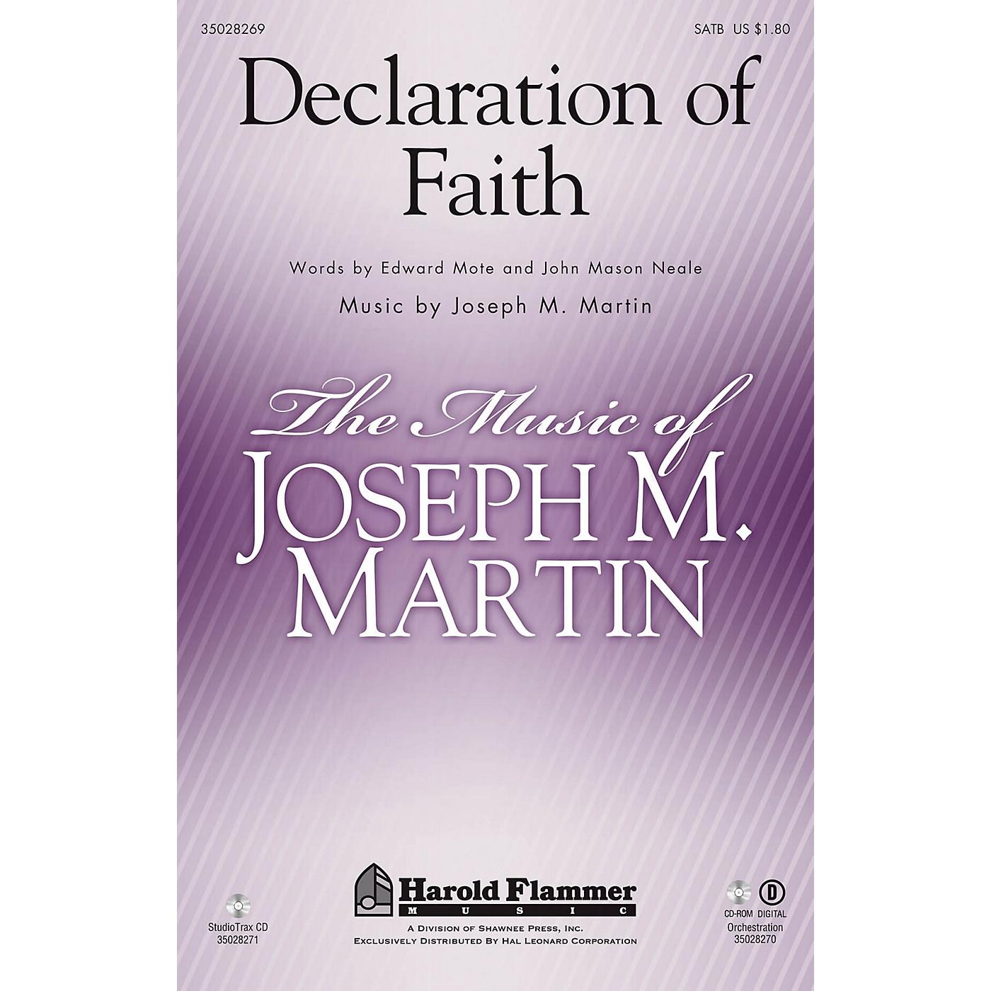 Shawnee Press Declaration of Faith Studiotrax CD Composed by Joseph M. Martin thumbnail