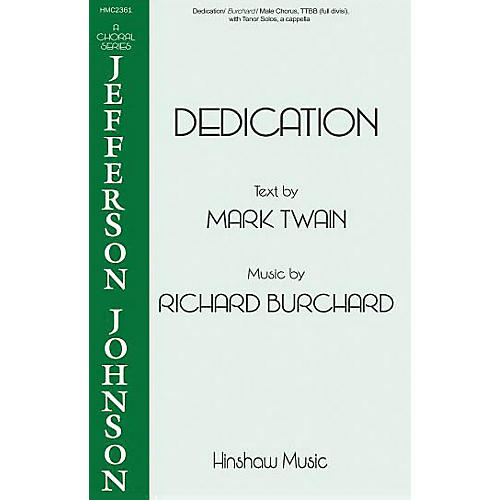 Hinshaw Music Dedication TTBB composed by Richard Burchard thumbnail