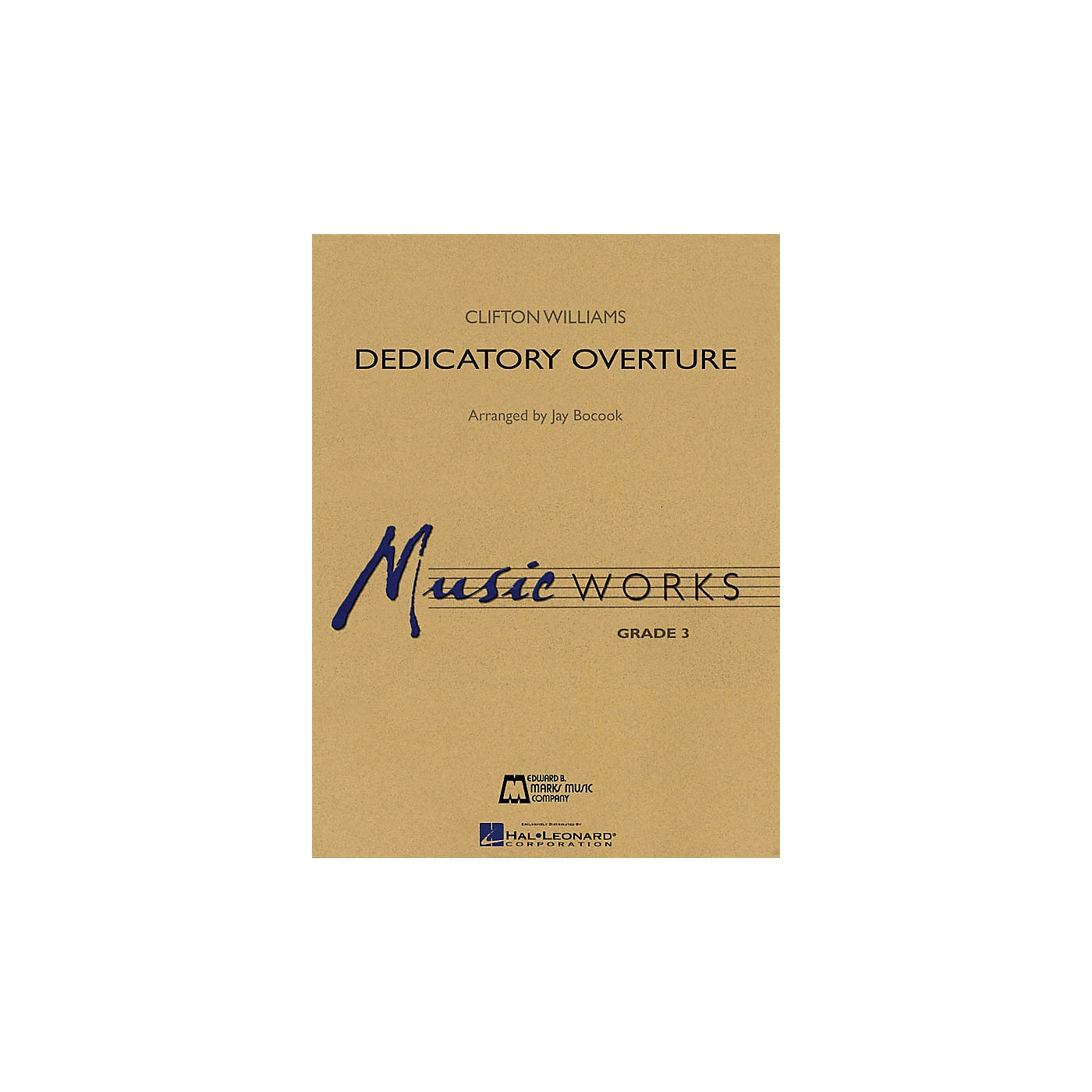 Hal Leonard Dedicatory Overture Concert Band Level 3 Arranged by Jay Bocook thumbnail