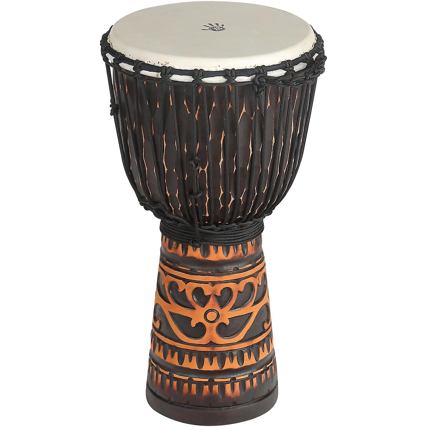 X8 Drums Deep Carve Antique Chocolate Djembe Drum thumbnail